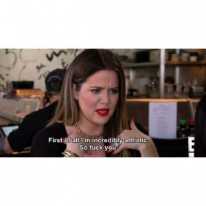 funny, khloe, khloe kardashian, lipstick, ombre hair, pretty, quotes ...