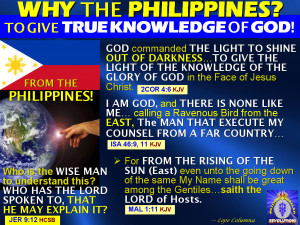 THE PHILIPPINES TO PLAY A VITAL ROLE IN THE FULFILLMENT OF BIBLE ...