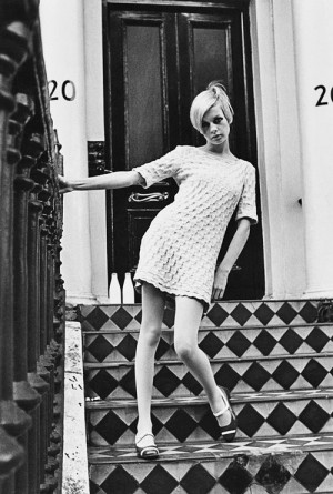 Twiggy, model 1960′s, London, England