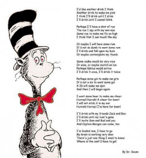 description only cat in the hat on drinking a funny saying comedy poem ...