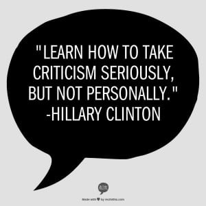 Learn How To Take Criticism Seriously But Not Personally Pictures ...