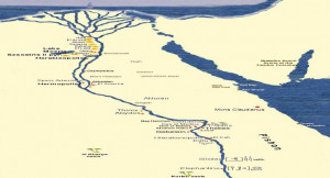 the course of the nile river the nile flows north from east africa to ...