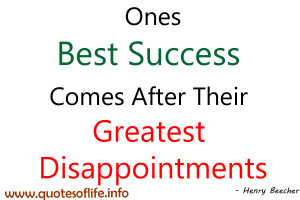 Disappointment Inspirational Quotes