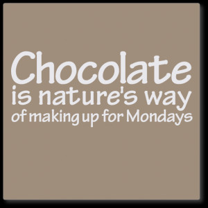 ... decals » wall quotes decals » wall quote decal - chocolate, Mondays