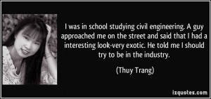 was in school studying civil engineering. A guy approached me on the ...