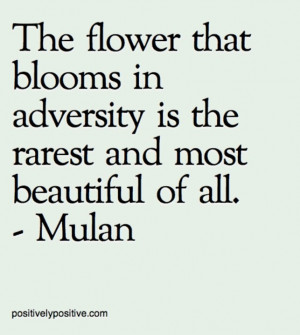 Evolving through adversity.