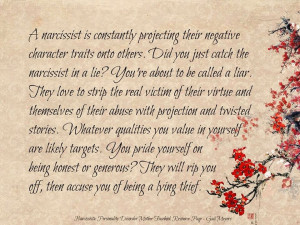 The Projection of the Narcissistic Personality Disordered Mother