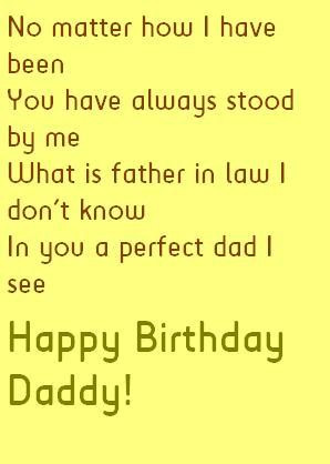 Father in Law Birthday Quotes and Wishes Cards