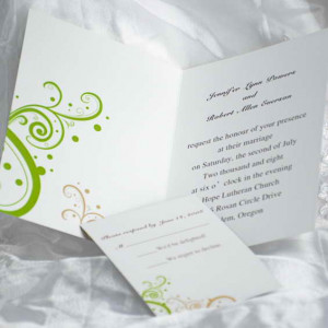 Touch Your Heart Half Folded Wedding Invitations UKF021 2
