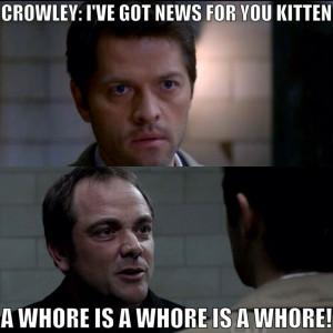 Castiel and Crowley | Supernatural quote