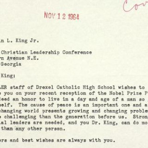 Letter from Jackie Robinson to MLK