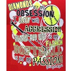 Girlie Girl Originals - Softball - Color Red T-Shirts