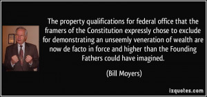 The property qualifications for federal office that the framers of the ...