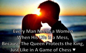 WOMEN' when his life is mess because the queen protects the king ...