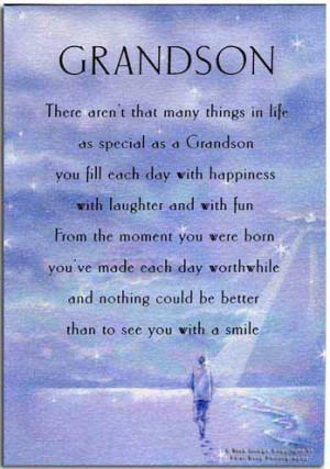 Grandson Birthday Wishes Poems
