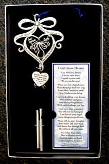 Memorial Poem Windchime - Gift from Heaven