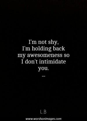 Intimidation quotes