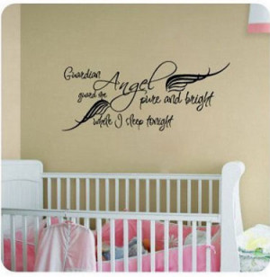 Vinyl baby guardian angel wall quote stickers and decals for the ...