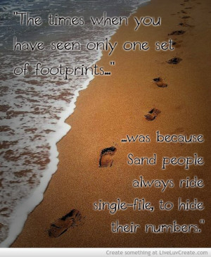 Footprints in the Sand Jesus Carried You