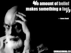 James Randi aka the Amazing Randi professional magician and