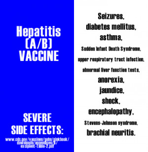 ... Dangerous Vaccine Facts . For consumers and rare side effects of