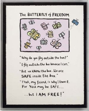 Picture of The Butterfly Of Freedom by Edward Monkton