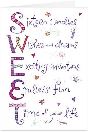 Sweet Sixteen Birthday Quotes Quotesgram Happy Birthday Sweet 16 Wishes