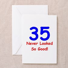 35th Birthday Greeting Cards (Pk of 10) for
