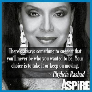 Phylicia Rashad, what a true respectable lady. She is awesome.