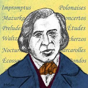 Frederic Chopin, the 19th century, Polish pianist and composer.