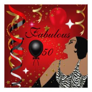 Glamorous Lady Fabulous 50 Fifty Birthday Party 4 5.25