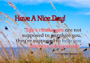 Life's challenges – Have A Nice Day Picture quotes