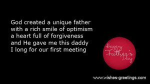 fathers day sayings unborn son