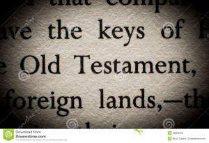 Old Testament quote in book.