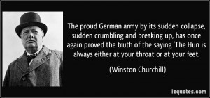 The proud German army by its sudden collapse, sudden crumbling and ...