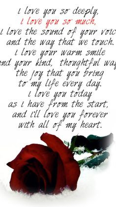 ... love you deeply!!! I love and look forward to our future together babe
