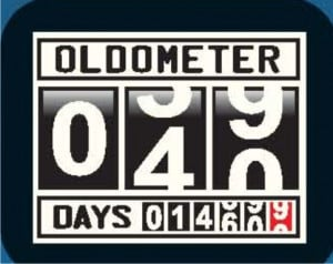 OLDOMETER 40th Birthday Humor Crazy Party Gifts Feast Joke Cool Funny ...