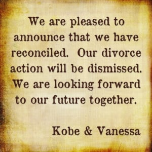 Kobe Bryant and Wife Vanessa Laine Officially Reconciling