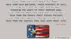 Memorial Day Quote By Will Carleton