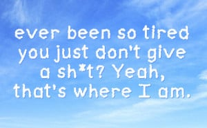 Tired Facebook Status On Sky Background