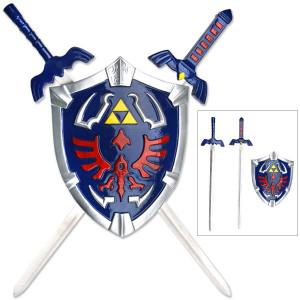 Legend Of Zelda Link Master Shield With 2 Swords