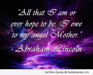 mother-daughter-angel-abraham-lincoln-quotes-pictures-sayings-images ...