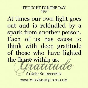 Thought for the day deep gratitude quotes