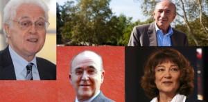 Lionel Jospin, Gérard Collomb, Bernard Poignant et Sylviane Agacinski ...
