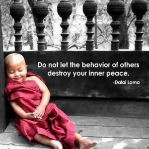 What is within your control to obtain your inner peace? Do it!