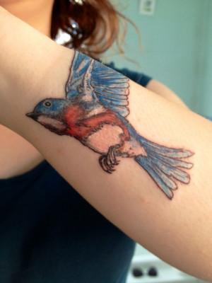 My Bluebird Tattoo Inspired By Charles Bukowski's Poem