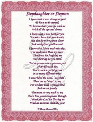 Happy Birthday Step Daughter Poems