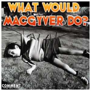 what would macgyver do boy clothesline