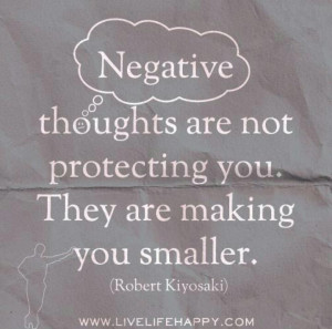 Negative thoughts, quote