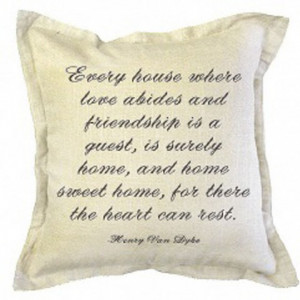 Ben's Garden Belgian Linen Pillow with Home Sweet Home Quote